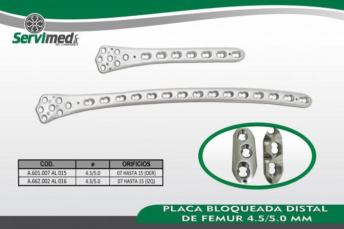 Servimed C.A., PLACAS LCP 4.5MM